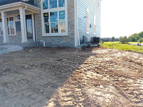 Softscape image of yard leveling